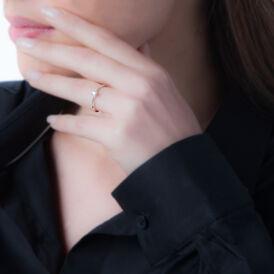 Solitärring Weißgold 375 Diamant 0,16ct - Ringe mit Edelsteinen Damen | Oro Vivo