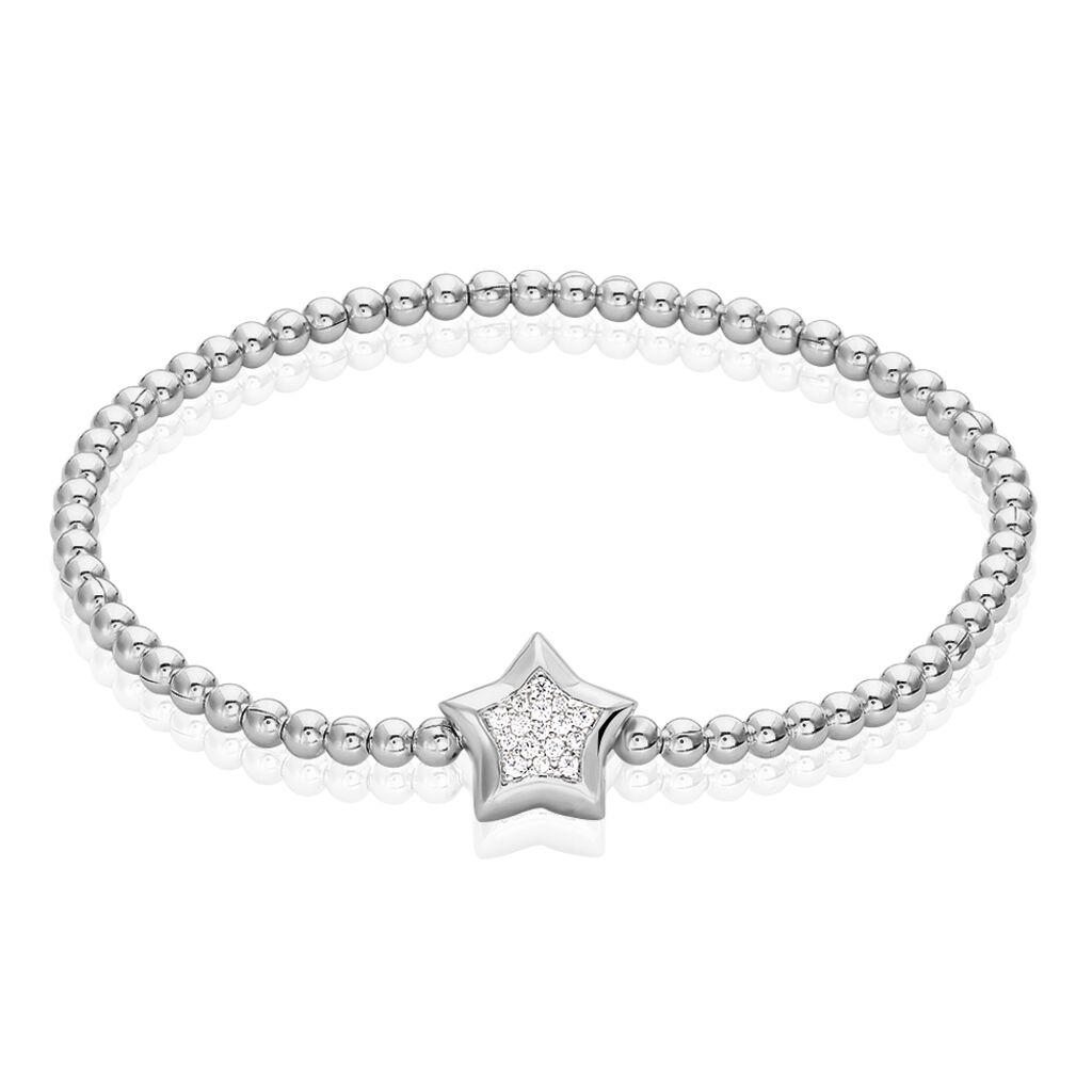 Damenkugelarmband Silber 925 Zirkonia Stern - Armbänder Damen | Oro Vivo