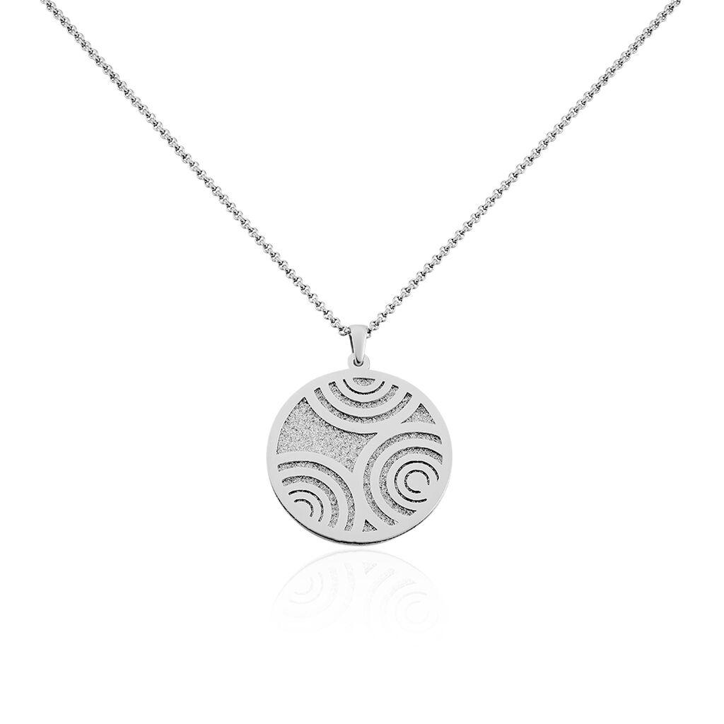 Damen Halskette Edelstahl Glitzer - Ketten mit Anhänger Damen   Oro Vivo