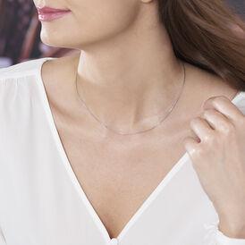 Damen Ankerkette Weißgold 375 Diamantiert 45cm - Ketten ohne Anhänger Damen   Oro Vivo