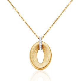 Damen Halskette Vergoldet Zirkonia - Ketten mit Anhänger    Oro Vivo