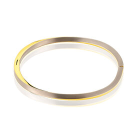 Boccia Damen Armreif Titan Vergoldet Bicolor - Armreifen Damen | Oro Vivo
