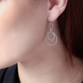 Damen Ohrhänger Lang Silber 925 Rhodiniert Kreis - Ohrhänger Damen | Oro Vivo