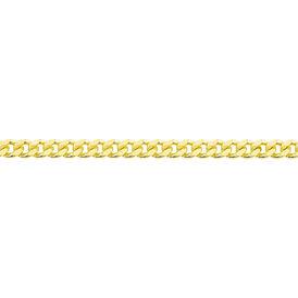 Unisex Panzerkette Silber 925 vergoldet - Ketten ohne Anhänger Unisex   Oro Vivo