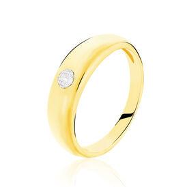 Anhänger Gold 333 Zirkonia Taufring - Schmuckanhänger Damen   Oro Vivo