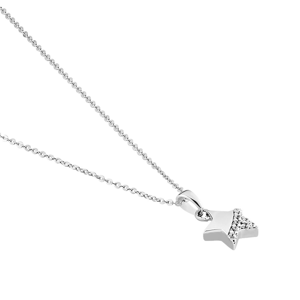 Kinder Halskette Silber 925 Zirkonia Stern -  Kinder   Oro Vivo