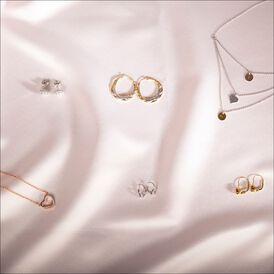 Damen Halskette Silber 925 Tricolor Vergoldet Herz - Herzketten Damen   Oro Vivo