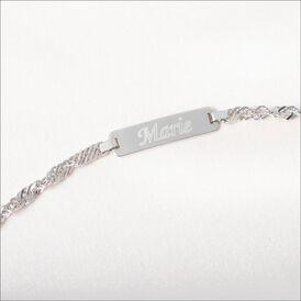Kinder Id Armband Panzerkette Silber 925 Herz - ID-Armbänder Kinder | Oro Vivo