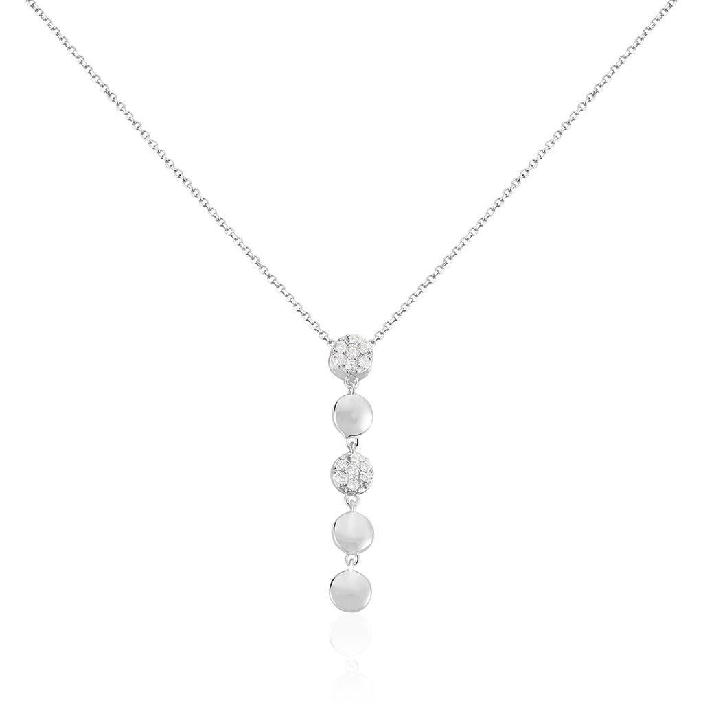 Damen Halskette Silber 925 Zirkonia  - Ketten mit Anhänger Damen   Oro Vivo