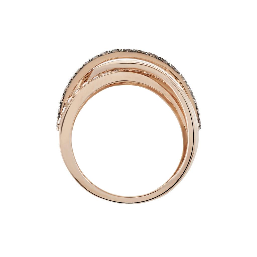 Damenring Roségold 750 Diamanten 0,664ct - Ringe mit Edelsteinen Damen   Oro Vivo