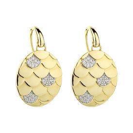 Damen Ohrhänger Lang Vergoldet Schuppe - Ohrhänger Damen | Oro Vivo
