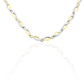 Boccia Damen Collier Titan Bicolor Vergoldet - Ketten ohne Stein Damen | Oro Vivo