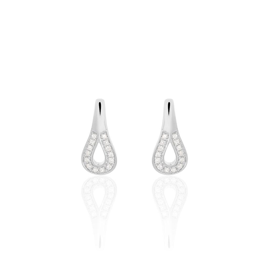 Damen Ohrstecker Weißgold 375 Diamanten 0,036ct - Ohrringe Damen   Oro Vivo