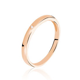 Damenring Roségold 375 Diamant 0,007ct -  Damen | Oro Vivo