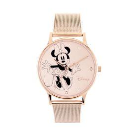 Disney Damenuhr Minnie Maus Kristalle Quarz - Analoguhren Damen   Oro Vivo
