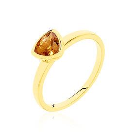 Solitärring Gold 375 Citrin - Ringe mit Stein Damen | Oro Vivo