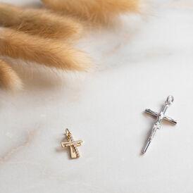 Unisex Anhänger Silber 925 Rhodiniert Kreuz  - Kreuzanhänger Unisex   Oro Vivo