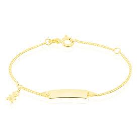 Kinder Id Armband Gold 375 Bär - ID-Armbänder Kinder   Oro Vivo