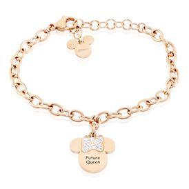 Kinderarmband Edelstahl Rosévergoldet Minnie - Armbänder    Oro Vivo