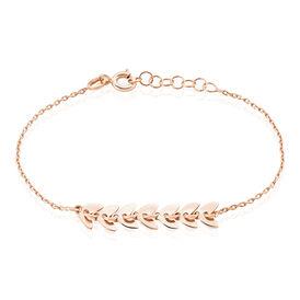 Damenarmband Silber 925 Rosé Vergoldet Blätter - Armbänder Damen | Oro Vivo