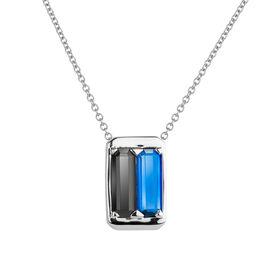 Damen Halskette Silber 925 Glassteine - Ketten mit Anhänger Damen | Oro Vivo