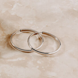 Damen Creolen Silber 925 50mm - Creolen Damen | Oro Vivo