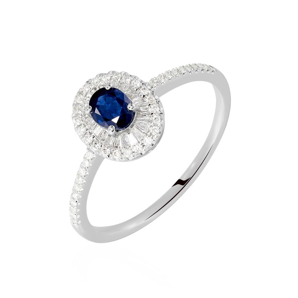 Damenring Weißgold 750 Saphir Diamanten 0,279ct - Ringe mit Edelsteinen Damen | Oro Vivo