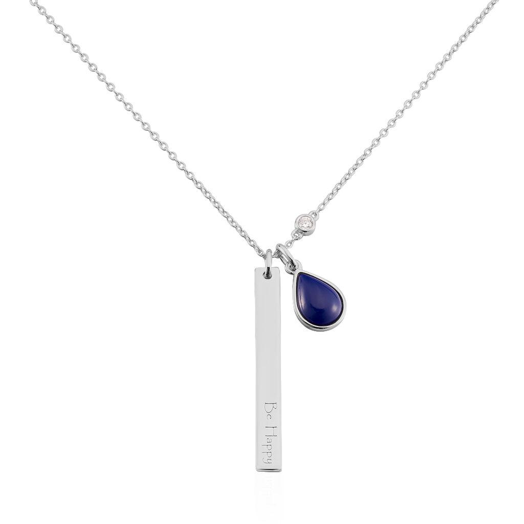 Damen Halskette Silber 925 Glasstein - Ketten mit Anhänger Damen | Oro Vivo