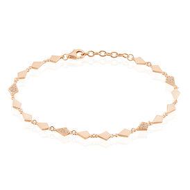 Damenarmband Silber 925 Rosé Vergoldet Zirkonia - Armbänder Damen   Oro Vivo