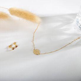 Damen Ohrstecker Gold 333 Rot Kristall Herz - Ohrstecker Damen | Oro Vivo