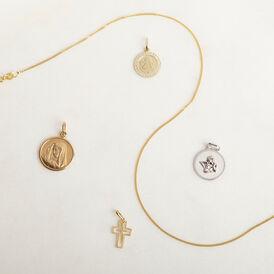 Kinderanhänger Weißgold 375 Schutzengel  - Schmuckanhänger Kinder   Oro Vivo