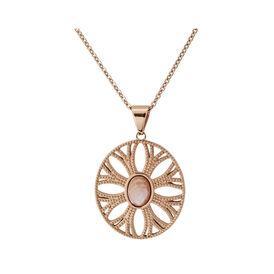 Damen Halskette Edelstahl Rosé Vergoldet Glasstein - Ketten mit Anhänger Damen | Oro Vivo