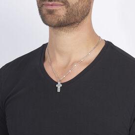 Herren Halskette Edelstahl Kreuz -  Herren | Oro Vivo