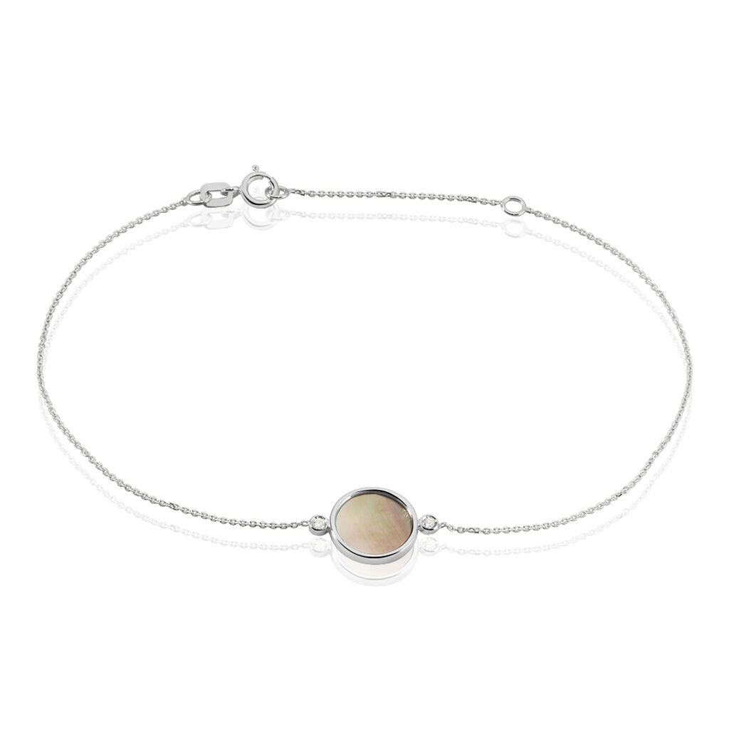 Damenarmband Weißgold 375 Perlmutt - Armbänder Damen | Oro Vivo