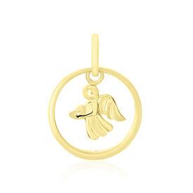 Kinderanhänger Gold 375 Zirkonia Taufring Engel - Schmuckanhänger Kinder | Oro Vivo