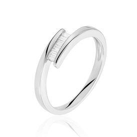 Spannring Weißgold 375 Diamanten 0,132ct -  Damen | Oro Vivo