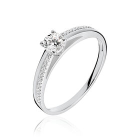 Damenring Weißgold 375 Diamant 0,22ct - Kategorie Damen | Oro Vivo