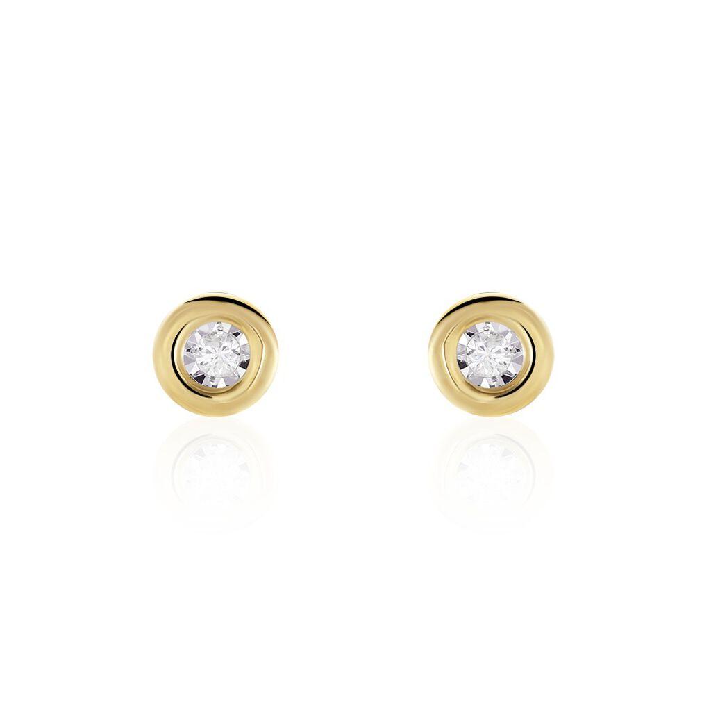 Damen Ohrstecker Gold 375 Diamant 0,52ct - Ohrstecker Damen   Oro Vivo
