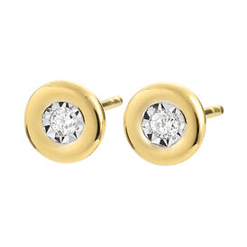 Damen Ohrstecker Gold 375 Diamant 0,52ct - Ohrstecker Damen | Oro Vivo
