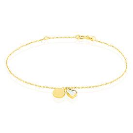 Damenarmband Gold 375 Perlmutt Herz -   | Oro Vivo