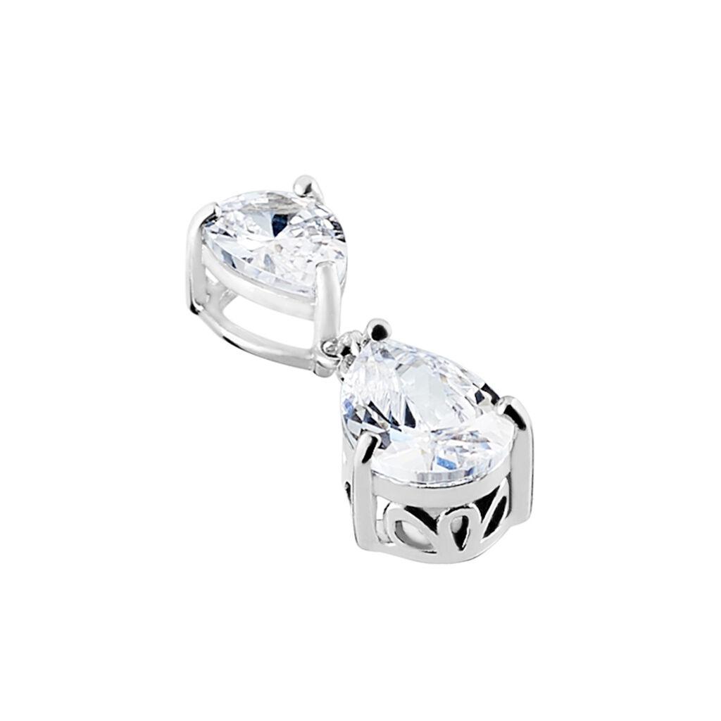 Anhänger Silber 925 Rhodiniert Zirkonia - Schmuckanhänger Damen | Oro Vivo