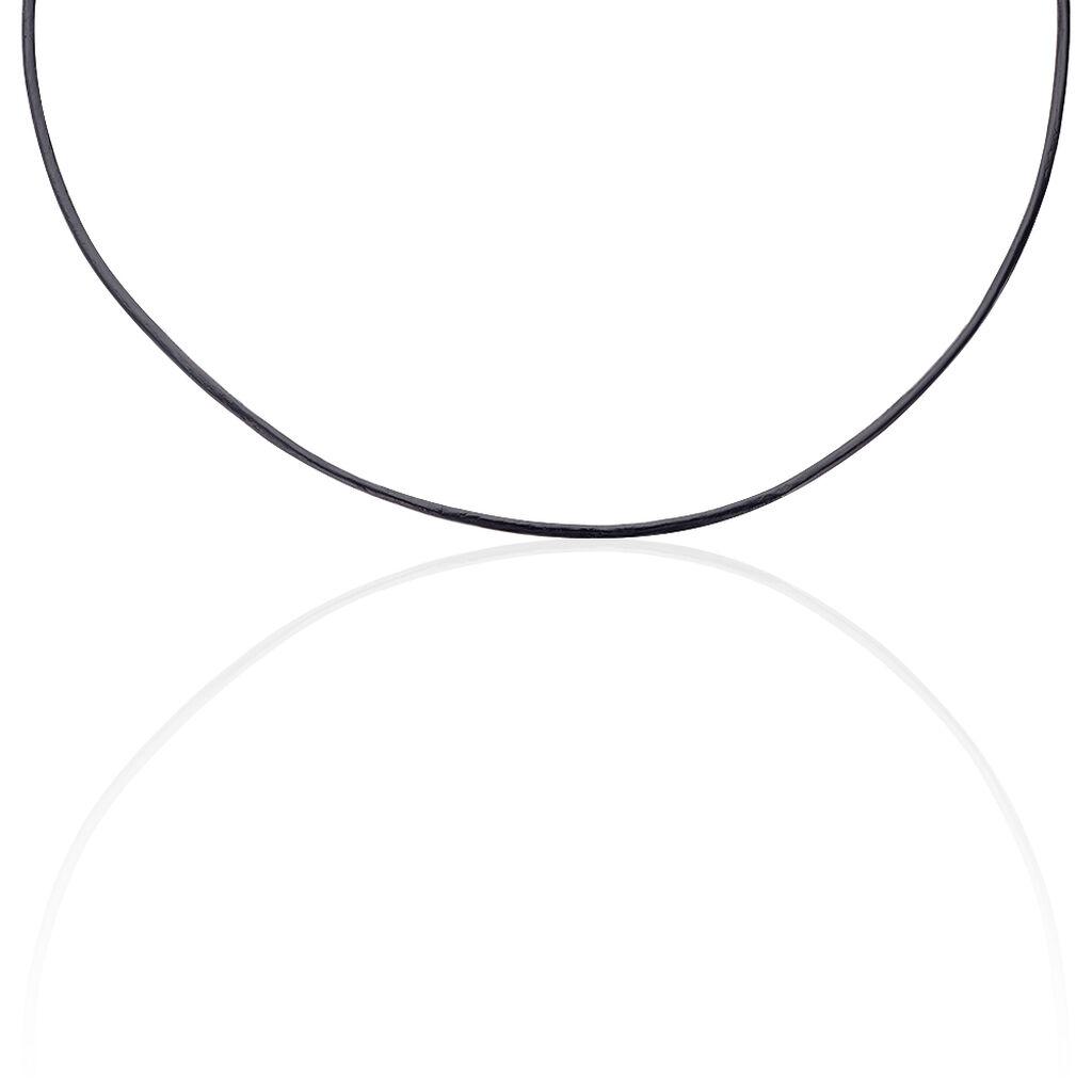 Unisex Lederkette Silber 925 45cm - Ketten ohne Anhänger Unisexe | Oro Vivo