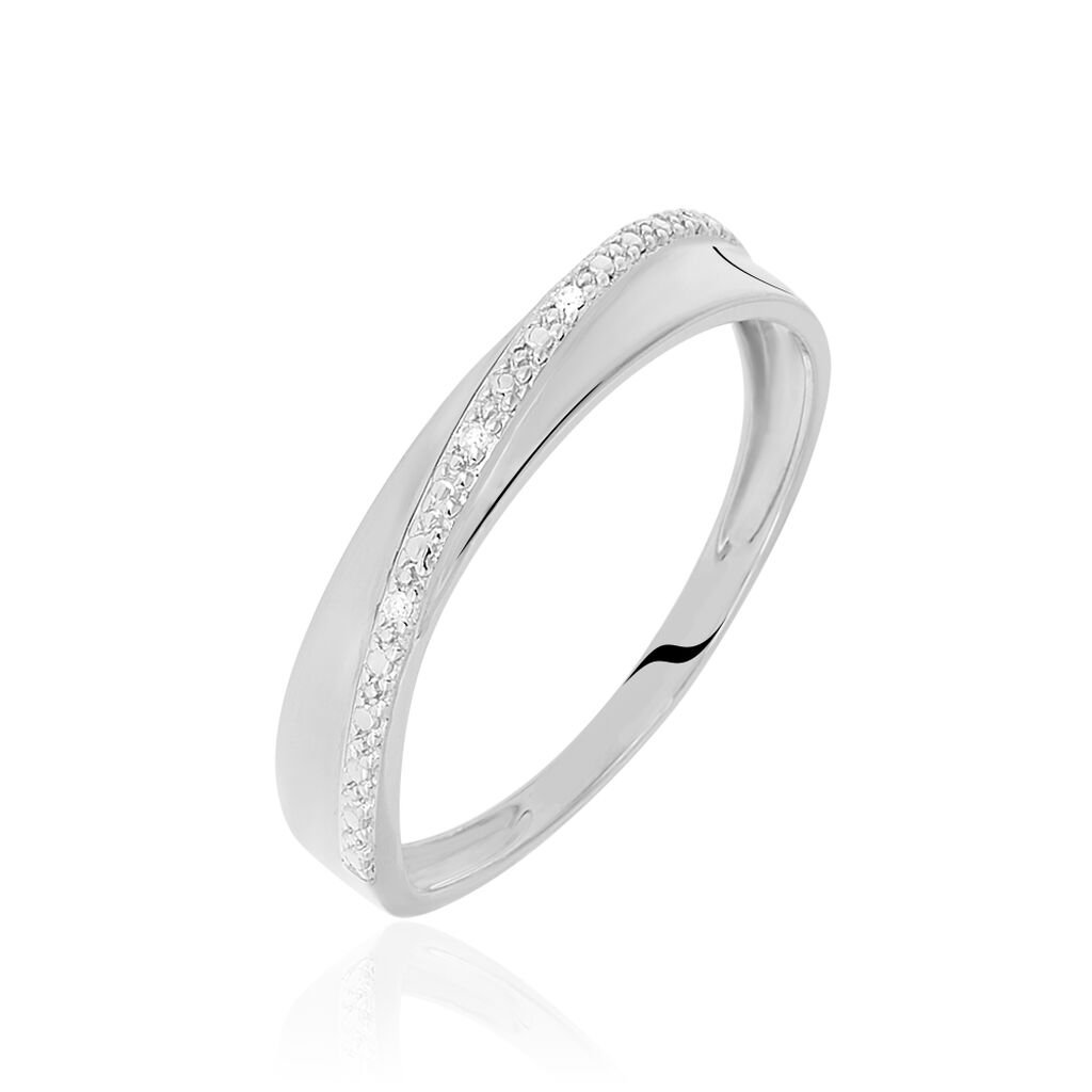Damenring Weißgold 375 Diamanten 0,009ct  - Black Friday Damen | Oro Vivo