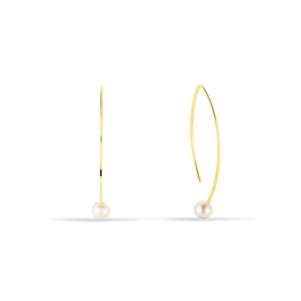 Damen Ohrhänger Lang Gold 375 Zuchtperlen - Ohrhänger Damen | Oro Vivo
