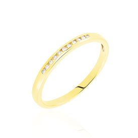 Damenring Gold 750 Diamanten 0,055ct - Eheringe Damen | Oro Vivo