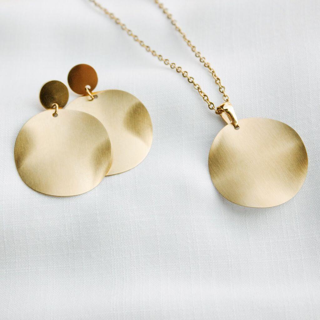 Damen Ohrstecker Lang Edelstahl Vergoldet  - Ohrstecker lang Damen | Oro Vivo