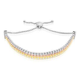 Damenarmband Silber 925 Zirkonia Tricolor  - Armbänder Damen | Oro Vivo