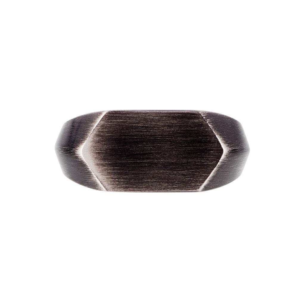 Herren Siegelring Edelstahl Geschwärzt - Personalisierte Geschenke Herren | Oro Vivo