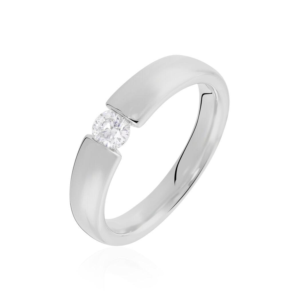 Spannring Weißgold 750 Diamant 0,2ct - Ringe mit Edelsteinen Damen | Oro Vivo