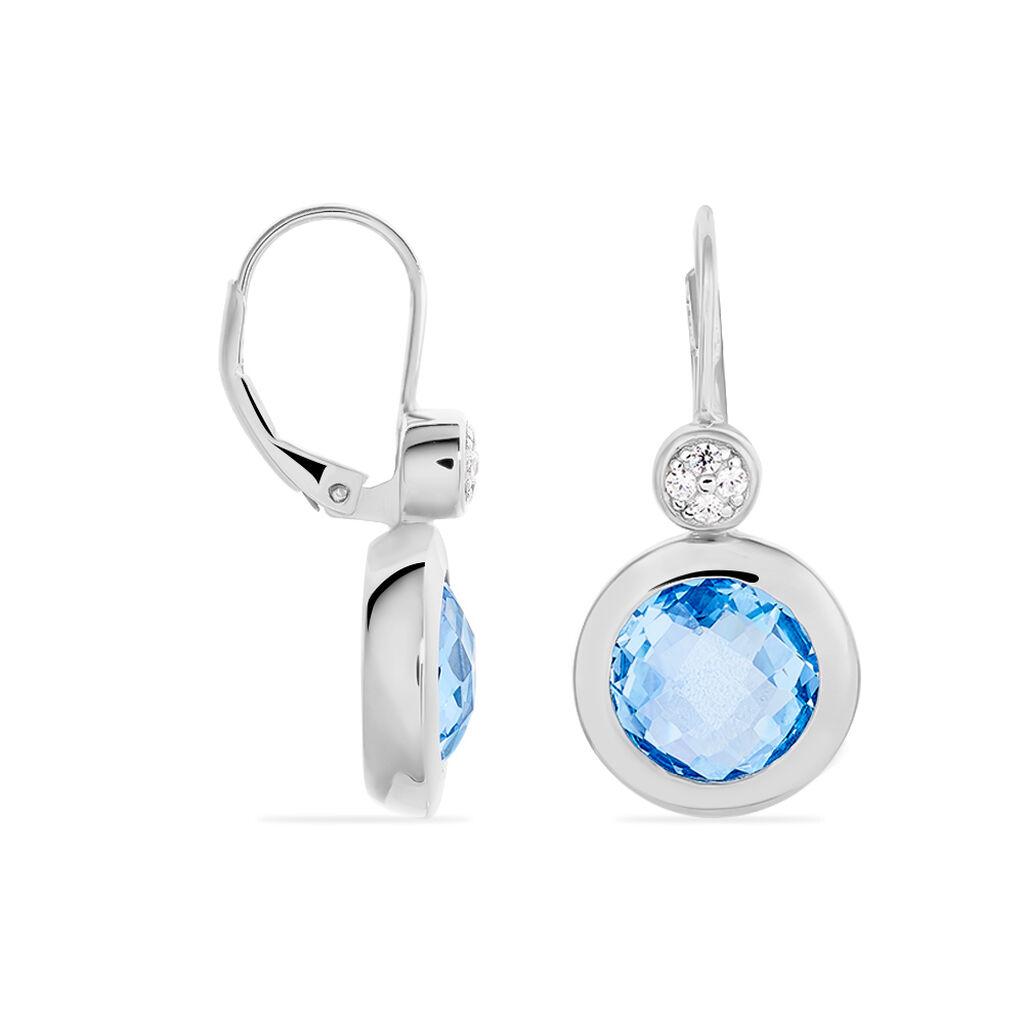 Damen Ohrhänger Lang Silber 925 Zirkonia Blau - Ohrhänger Damen | Oro Vivo